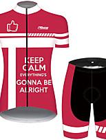 Недорогие -21Grams Жен. С короткими рукавами Велокофты и велошорты Red and White геометрический Новинки Велоспорт Наборы одежды Дышащий Быстровысыхающий Ультрафиолетовая устойчивость Впитывает пот и влагу