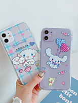 cheap -Case For Apple iPhone 11  11 Pro 11 Pro Max White dog cub High penetration TPU material Painting process scratch proof phone case