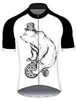 Недорогие -21Grams Муж. С короткими рукавами Велокофты Черный / Белый Животное Медведи Змея Велоспорт Джерси Верхняя часть Горные велосипеды Шоссейные велосипеды Устойчивость к УФ Дышащий Быстровысыхающий