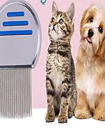 cheap -Dog Pets Grooming Cleaning Stainless steel Comb Portable Mini Durable Pet Grooming Supplies Silver 1