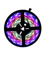 Недорогие -5м гибкие светодиодные полосы RGB TIKTOCK фары 300 светодиодов SMD5050 10мм 1шт многоцветная вечеринка / самоклеящаяся / градиент цвета 12 В