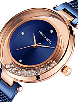 cheap -MINI FOCUS Women's Steel Band Watches Crystal Fashion Blue Silver Gold Stainless Steel Japanese Quartz Rose Gold Purple Gold Water Resistant / Waterproof 30 m 1 pc Analog One Year Battery Life