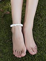 Недорогие -Ножной браслет Богемный Викторианский стиль Универсальные Украшения для тела Назначение Для улицы День рождения Бусины Морская раковина Белый 1 шт.