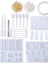 Недорогие -смола силиконовый набор смола diy глина эпоксидная смола литейные формы и набор инструментов с черным мешком для хранения ювелирных изделий