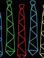 Недорогие -Прямоугольный Светящийся галстук Ночные светильники Портативные / обожаемый / Креатив Включение / выключение Аккумуляторы AA 1шт