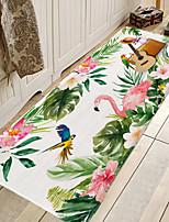 cheap -1pc Modern  Tropical Leaf Flamingo Pattern Bath Mats / Bath Rugs Coral Velve Geometric / Abstract 5mm Bathroom New Design