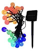 Недорогие -5м гирлянды солнечного света гирлянда из светодиодов хрустальный пузырь шар 20 свет открытый водонепроницаемый рождественские украшения освещения гирлянда