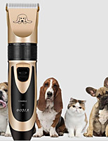 cheap -Rodents Dog Cat Grooming Cleaning Plastic & Metal Clipper & Trimmer Dog Clean Supply Case Included Easy to Install USB Rechargeable Pet Grooming Supplies Gold Five-piece Suit