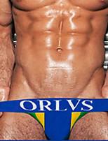 cheap -Men's Basic Briefs Underwear - EU / US Size Mid Waist Yellow Red Blue M L XL