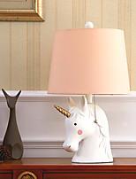 Недорогие -Настольная лампа / Абажур Защите для глаз / Декоративная Современный современный Назначение Спальня 220 Вольт Розовый
