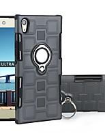 Недорогие -Кейс для Назначение Sony Sony Xperia XZ1 Защита от удара / со стендом Чехол Плитка ТПУ