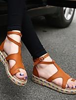 cheap -Women's Sandals Flat Sandals Bunion Sandals Orthopedic Sandals Summer Flat Heel Open Toe Daily PU White / Black / Green