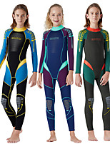 cheap -Dive&Sail Boys' Girls' Full Wetsuit 2.5mm SCR Neoprene Diving Suit Windproof Anatomic Design Long Sleeve Back Zip Patchwork Autumn / Fall Spring Summer / Winter / High Elasticity / Kids