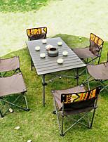 Недорогие -кобель волк открытый складной стол и стул набор портативный стол для пикника 7-х частей дикого самостоятельного вождения досуг стол и стул