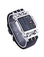 cheap -Unisex Digital Watch Digital Vintage Style Stylish Stainless Steel Black 30 m Water Resistant / Waterproof Calendar / date / day LED Light Digital Casual Vintage - Black / Silver Two Years Battery