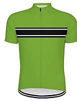 Недорогие -21Grams Муж. С короткими рукавами Велокофты Red and White Черный / зеленый В полоску Велоспорт Джерси Верхняя часть Горные велосипеды Шоссейные велосипеды Устойчивость к УФ Дышащий Быстровысыхающий