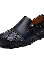 cheap -Men's Spring & Summer Casual Daily Loafers & Slip-Ons PU Non-slipping Black / Blue / Brown