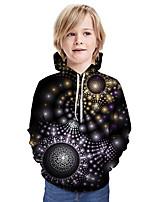 cheap -Kids Boys' Active Street chic 3D Patchwork Print Long Sleeve Hoodie & Sweatshirt Rainbow