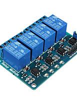 Недорогие -5-вольтовый 4-канальный релейный модуль для pic arm dsp avr msp430 blue для arduino
