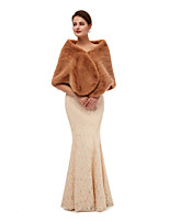 cheap -Sleeveless Shawls Faux Fur Party / Evening Shawl & Wrap / Women's Wrap With Trim