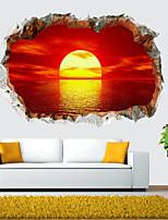 Недорогие -Пейзаж / 3D Наклейки 3D наклейки Декоративные наклейки на стены, PVC Украшение дома Наклейка на стену Стена Украшение 1шт