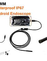 Недорогие -7 мм камера эндоскопа гибкий ip67 водонепроницаемый микро usb осмотр камера бороскоп для android pc ноутбук 6 светодиодов регулируемый