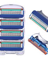 Недорогие -Лезвие бритвы для мужчин уход за лицом 5 слоев бритвенные кассеты лезвия из нержавеющей стали безопасности костюм для Gillettee Fusione