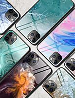 Недорогие -чехол для карты яблока сцена iphone 11 11 про 11 про макс цветной мраморный рисунок закаленное стекло задняя панель тпу рама 2-в-1 анти-капля чехол для мобильного телефона jmgd