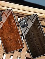 Недорогие -роскошный деревянный телефонный чехол для яблока iphone 11 pro max xr xs max x мягкий край тпу тонкий закаленный стеклянный чехол для iphone 8 plus 7 plus 6 plus coque shell