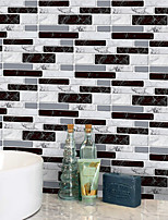 cheap -20x10cmx9pcs Black and White Marble Wall Stickers Retro Oil-proof Waterproof Tile Wallpaper For Kitchen Bathroom Ground Wall House Decoration