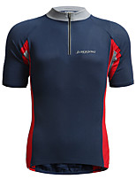 cheap -Jaggad Men's Short Sleeve Cycling Jersey Blue Patchwork Bike Jersey Top Mountain Bike MTB Road Bike Cycling Breathable Quick Dry Moisture Wicking Sports Clothing Apparel / Stretchy / Triathlon