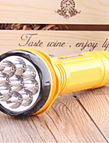 cheap -LED Flashlights / Torch 100 lm LED LED 9 Emitters Portable Camping / Hiking / Caving Everyday Use Cycling / Bike Yellow