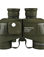 Недорогие -10x50 военный бинокль компас начиная азимут водонепроницаемый открытый отдых на природе охота при низкой освещенности телескоп ночного видения