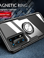 cheap -Luxury Car Holder Ring Case For Samsung Galaxy S20 Ultra S20 Plus S10 Plus 5G S10e Note 10 Pro A51 A71 A70 A50 A40 A30 A20 A10 Clear Transparent PC Back Cover Soft Silicone Bumper Case