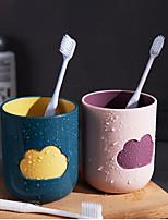 Недорогие -400 мл форма облака творческий мультфильм для полоскания рта чашки зубная щетка чашка пара чистить зубы бытовые пластиковые мыть чашки набор