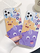 cheap -Case For Apple iPhone 11 11 Pro 11 Pro Max Tiny monster pattern TPU material painting process scratch-resistant mobile phone case
