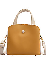 cheap -Women's Polyester / PU Top Handle Bag Color Block Yellow / Green / Blue