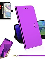 cheap -Case For Samsung Galaxy A20s / A70S / A91 / M80S Wallet / Card Holder / Mirror Full Body Cases Solid Colored PU Leather For Galaxy A90 5G/A51/A71/A81/A01/A11/A21/A41/A70E