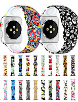 cheap -Variety of Printing Compatible with Apple Watch Band 38mm 40mm 42mm 44mm Fadeless Pattern Printed Bands for iWatch Band Strap Series 5/4/3/2/1