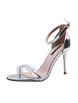 cheap -Women's Sandals 2020 Heel Sandals Spring & Summer Stiletto Heel Open Toe Preppy Dad Shoes Daily Outdoor PU Gold / Silver