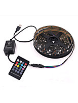cheap -5m Flexible LED light strips RGB Tiktok Lights / Remote Controls 150 LEDs SMD5050 10mm 1 24Keys Remote Controller 1 set RGB Tiktok Lights Halloween / Christmas Waterproof / USB / Decorative USB Powere