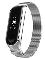 cheap -Watch Band for Xiaomi Mi Band 3/4 Xiaomi Business Band Stainless Steel Wrist Strap