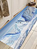 cheap -1pc Modern Animal Horse Pattern Bath Mats / Bath Rugs Coral Velve Geometric / Abstract 5mm Bathroom New Design