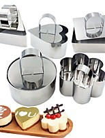 cheap -1PCS Mousse Ring Stainless Steel Cake Ring Mold Platen Rice Ball Sushi Tool DIY