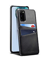 cheap -Case For Samsung Galaxy S20 / Galaxy S20 Plus / Galaxy S20 Ultra Card Holder / Shockproof Back Cover Solid Colored PU Leather / Plastic for  Galaxy S10 / Galaxy S10 Plus / Galaxy S10 E/Note 10