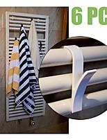 Недорогие -6 шт. Высокое качество вешалка для полотенцесушителей радиаторной ванне крючок держатель вешалка для одежды перча plegable шарф вешалка белый