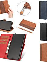 Недорогие -Кейс для Назначение Apple iPhone 11 / iPhone 11 Pro / iPhone 11 Pro Max Бумажник для карт / со стендом Чехол Плитка Кожа PU / ТПУ