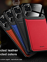 Недорогие -чехол для apple iphone 11 11 pro 11 pro max противоударная задняя крышка сплошной цвет искусственная кожа акрил хз х х х х макс 8 8 плюс 7 7 плюс