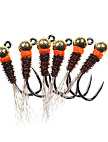 cheap -6 pcs Flies Flies Fast Sinking Bass Trout Pike Sea Fishing Fly Fishing Jigging Fishing Metal