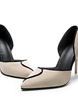 Недорогие -Жен. Обувь на каблуках На шпильке Заостренный носок Полиуретан Весна лето Черный / Бежевый